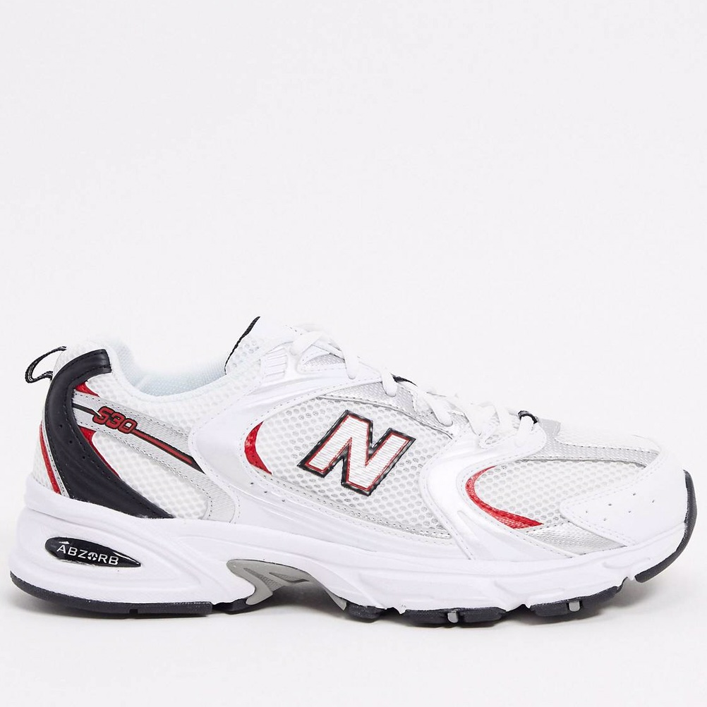 New Balance 530 Trainers in White & Red FREE... - Depop