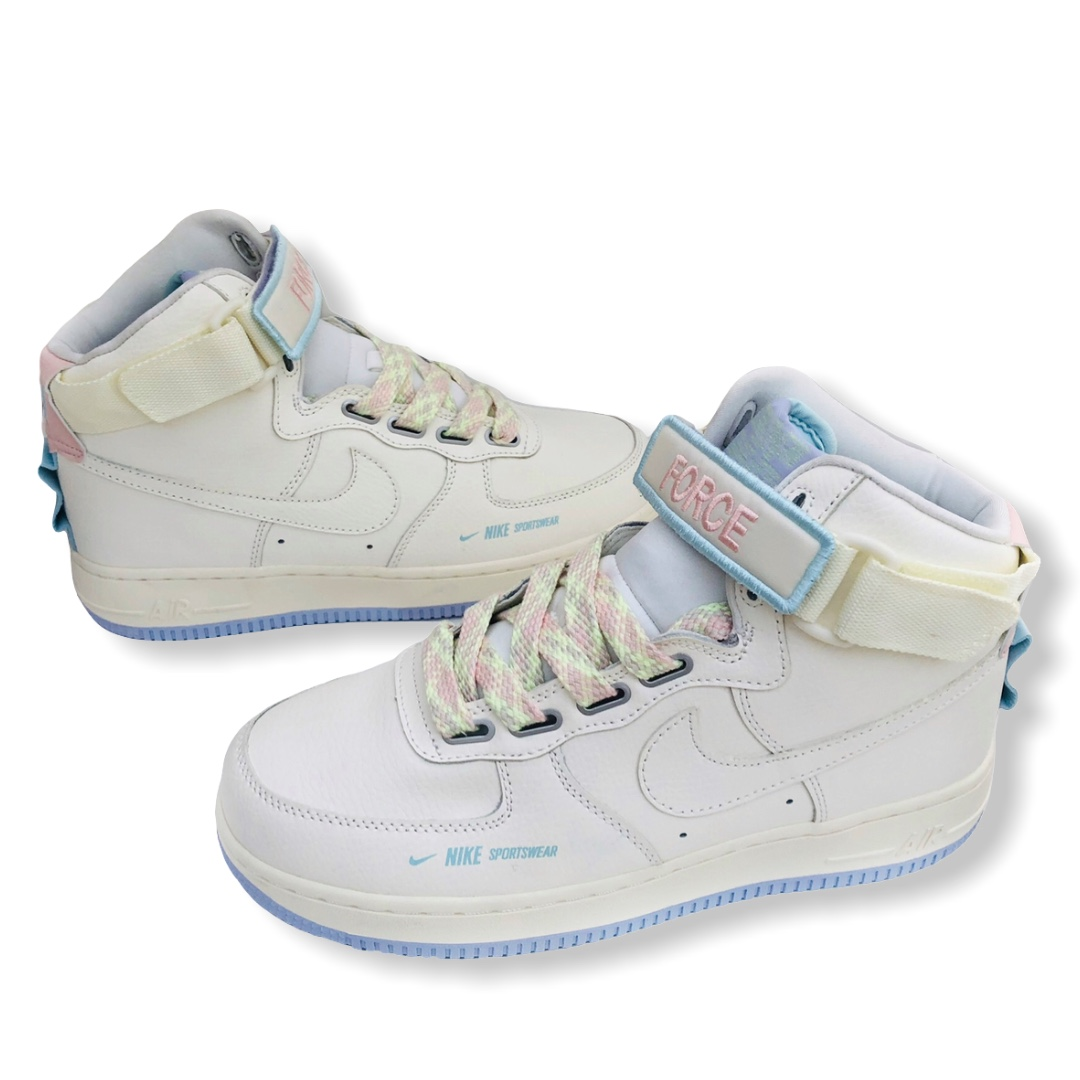 Nike Air Force 1 High Utility pastel colorway with... - Depop