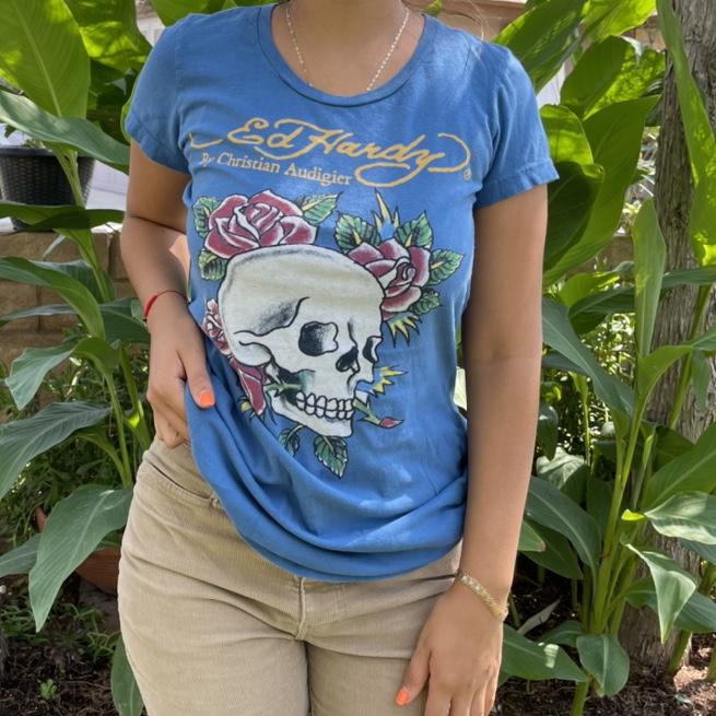 Product Image 1 - Blue Ed Hardy Top 💀