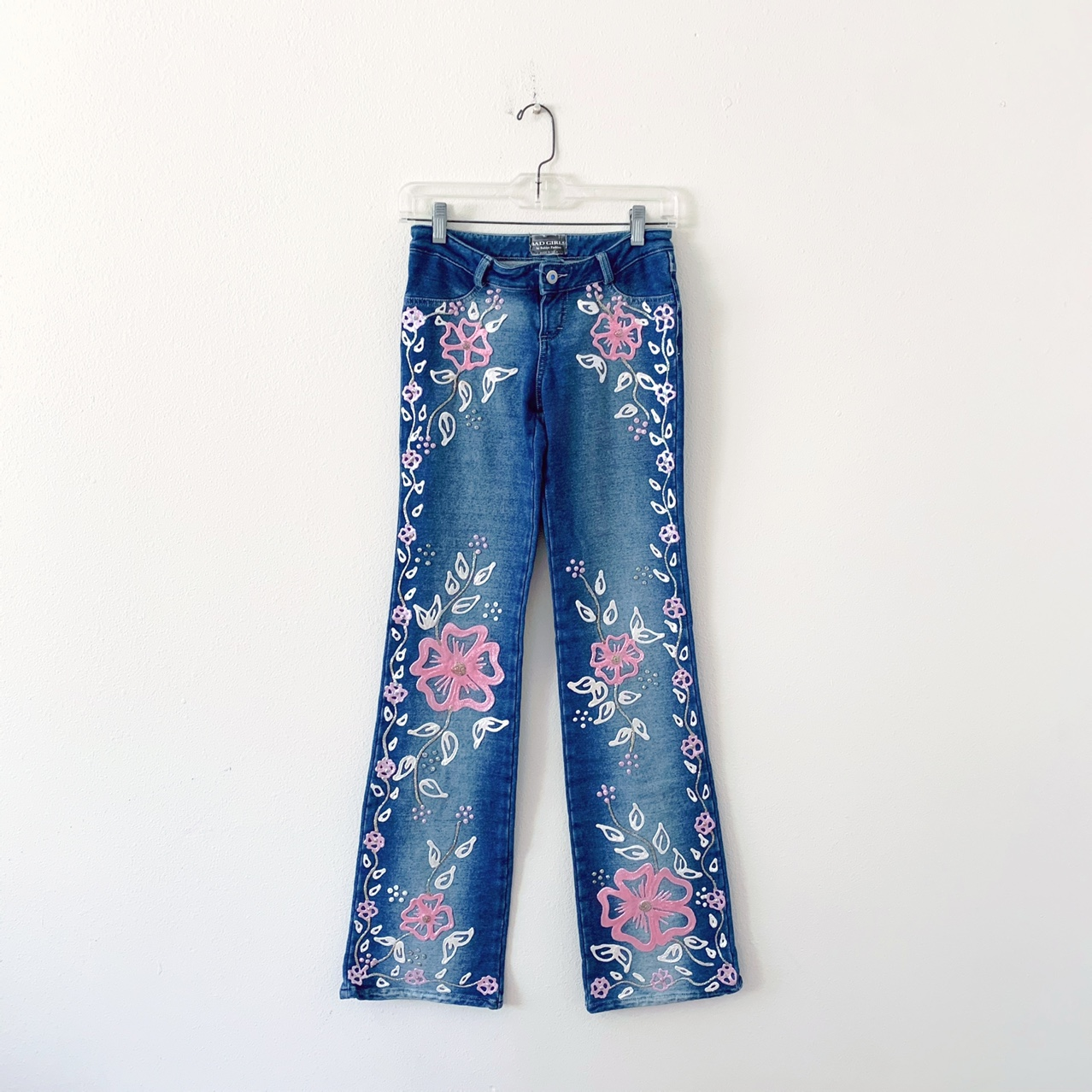 Product Image 1 - Y2K Floral Glitter Flared Jeans