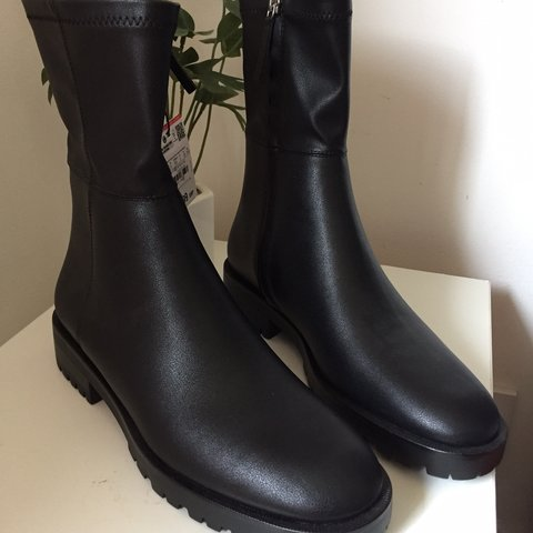 1b33a4c8ec @rache_anderson. yesterday. Glenrothes, United Kingdom. Zara sock boots - size  5. Never worn, brand new ...