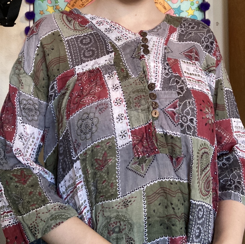 Product Image 1 - Vintage 90s multicolored patchwork floral