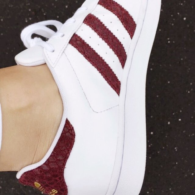 superstar adidas bianche e bordeaux