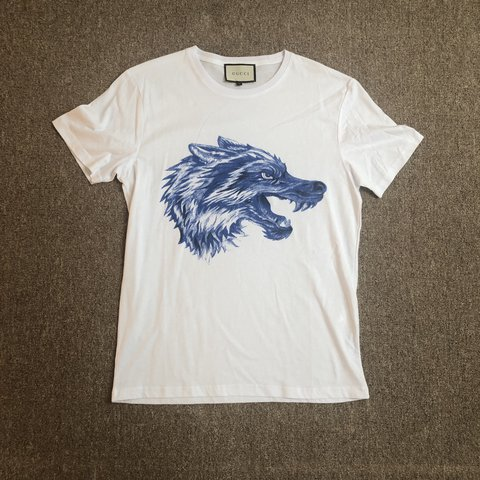 555342794 Gucci wolf t shirt • Size L, fits a medium • 10/10 never new - Depop