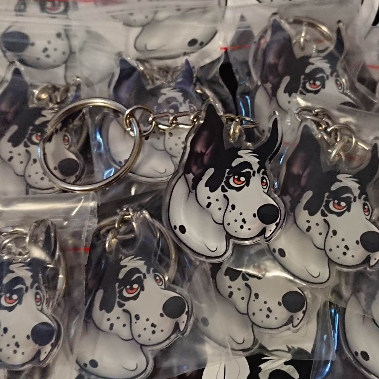Product Image 1 - Great dane keychain.   #dogs #sticker