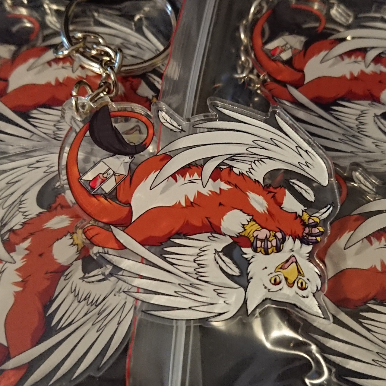 Product Image 1 - Large gryphon keychain.  #gryphon #griffen #keychain
