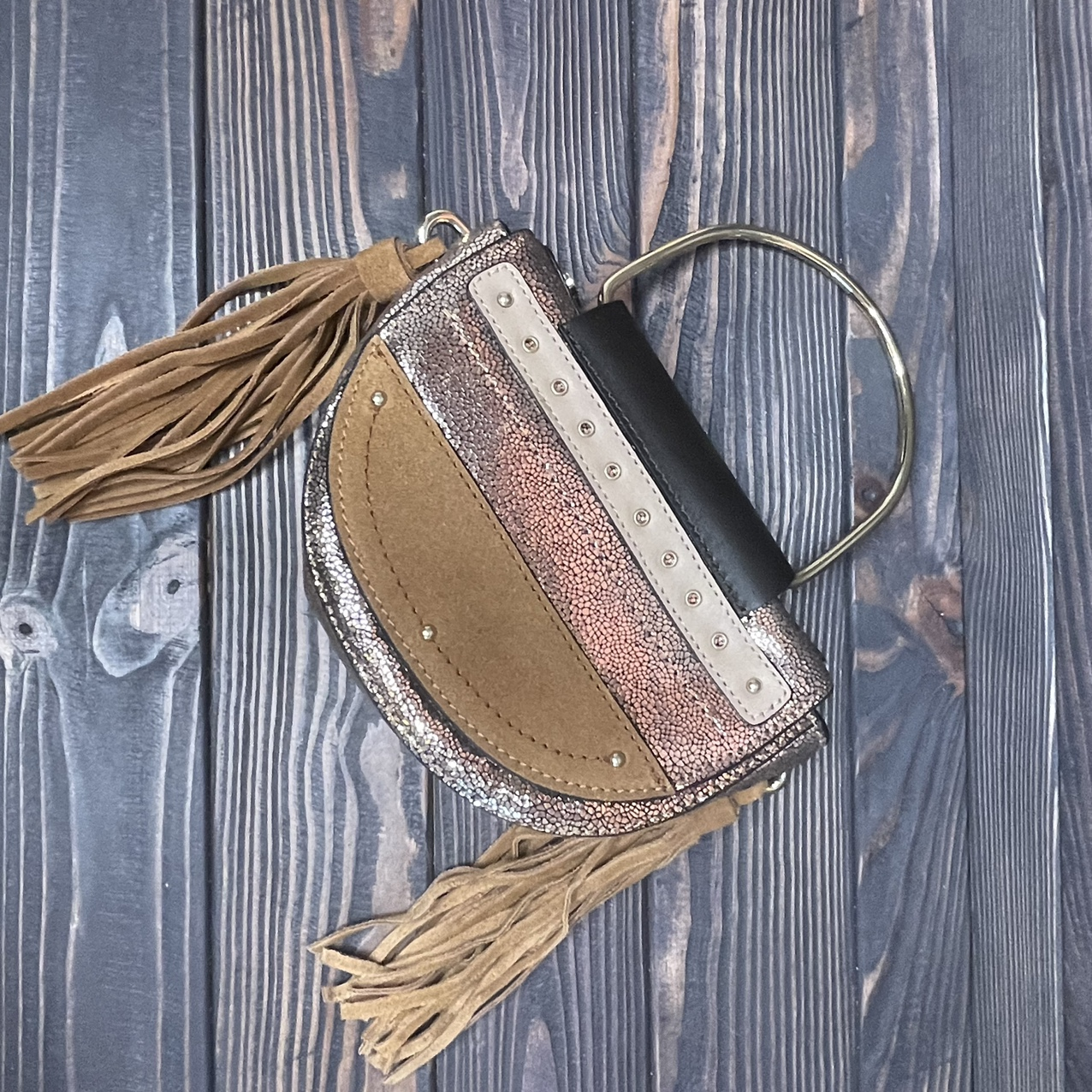 Product Image 1 - Fun mixed leather half moon