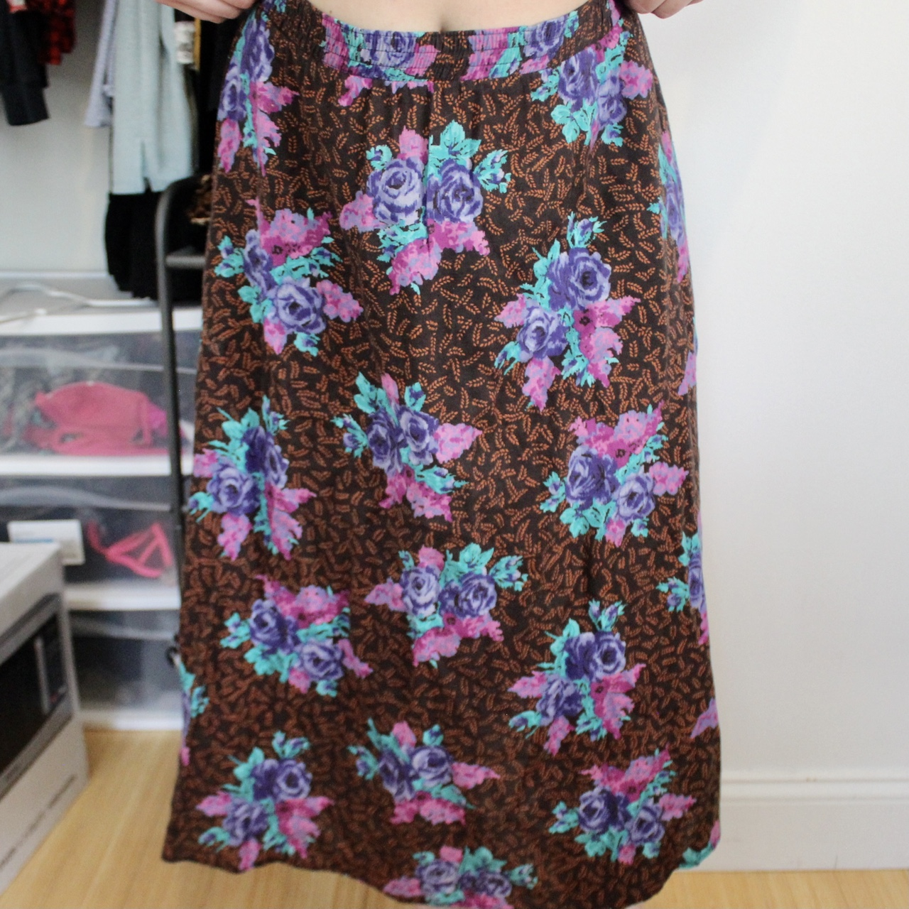 Product Image 1 - VINTAGE LONG FLORAL SKIRT —insanely beautiful