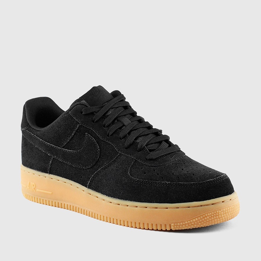 NIKE AIR FORCE 1 in stoffa nere con para in gomma... - Depop