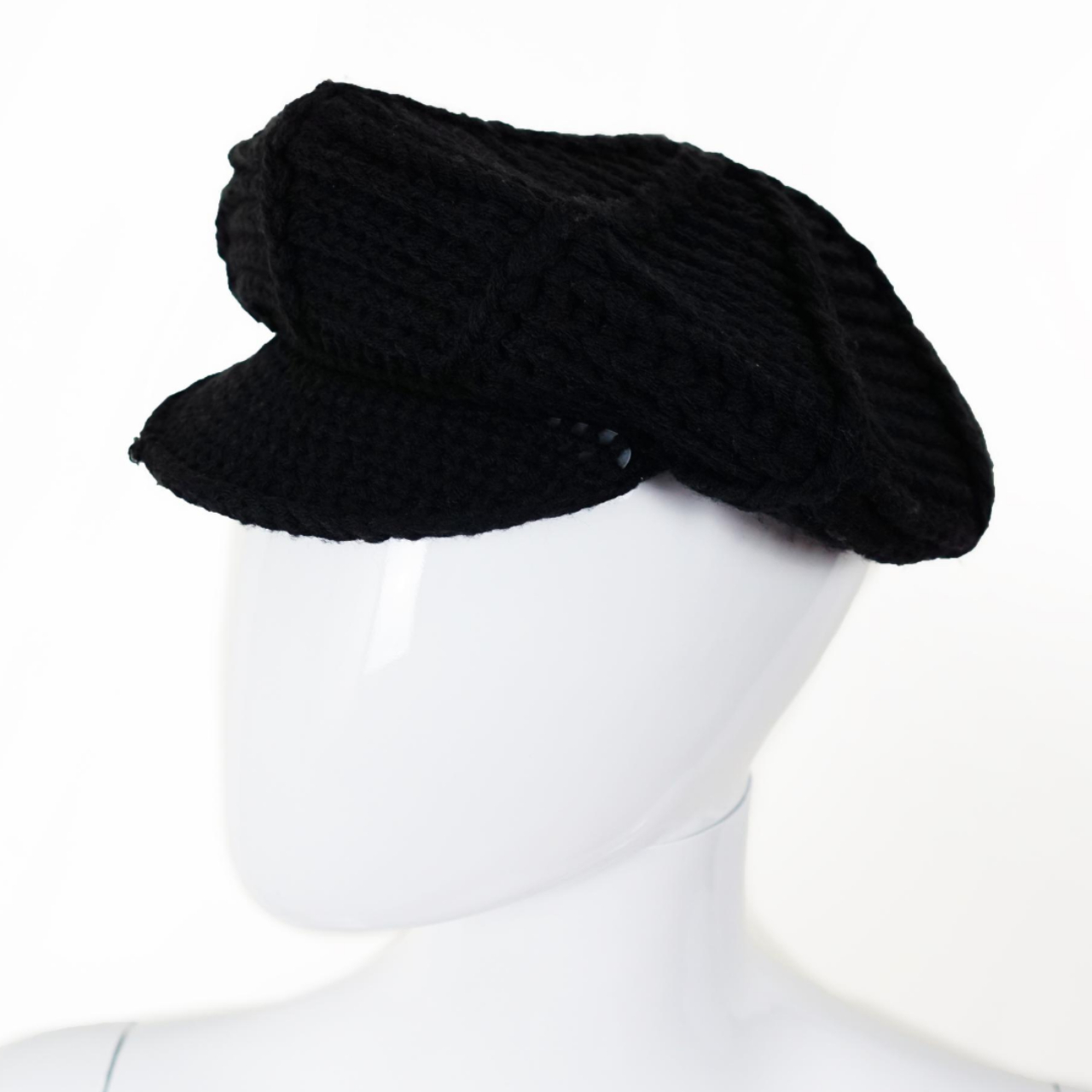 Product Image 1 - ACCESSORIES Black Knitted Peaked Cap