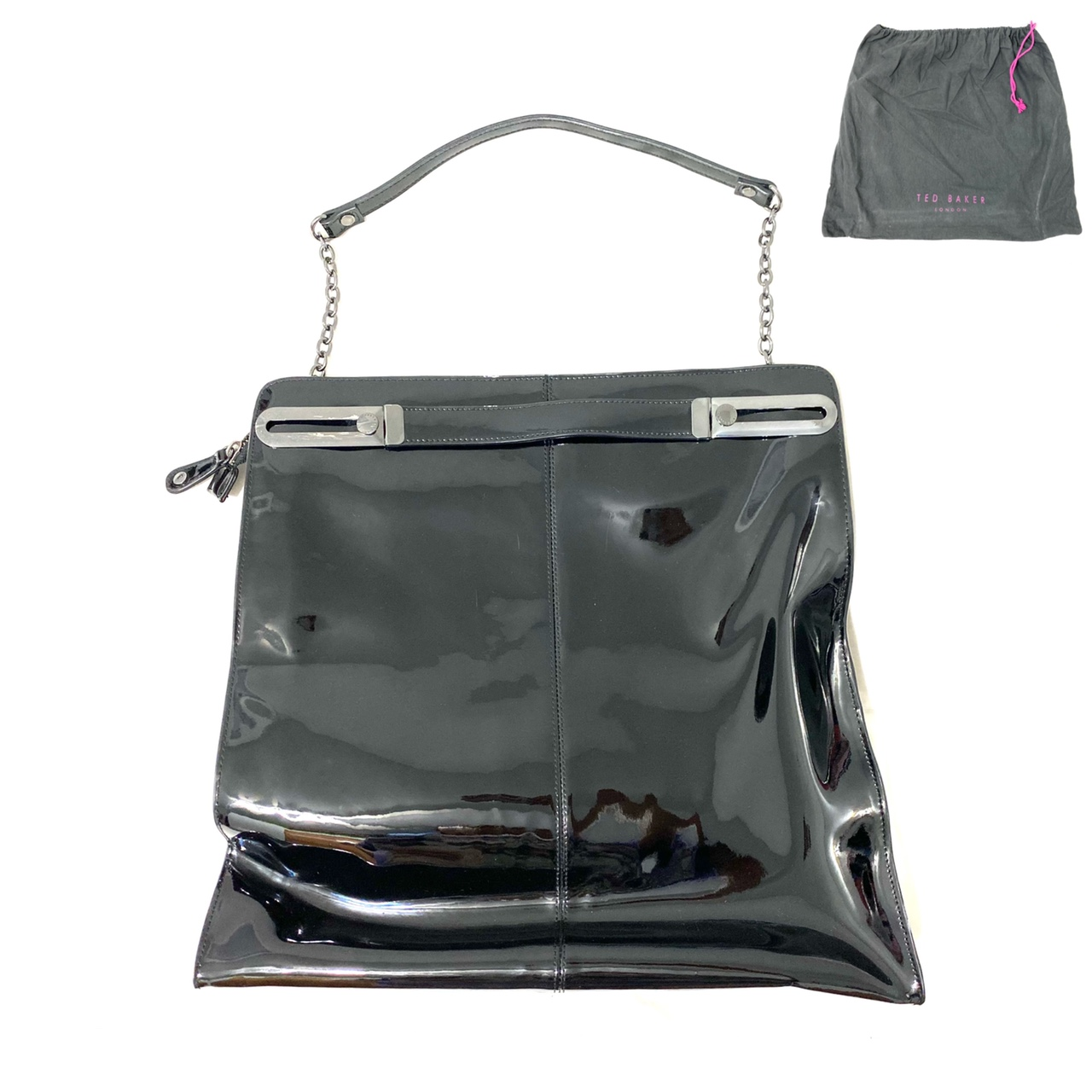 Product Image 1 - 90s/Y2K Glossy Black Tote by