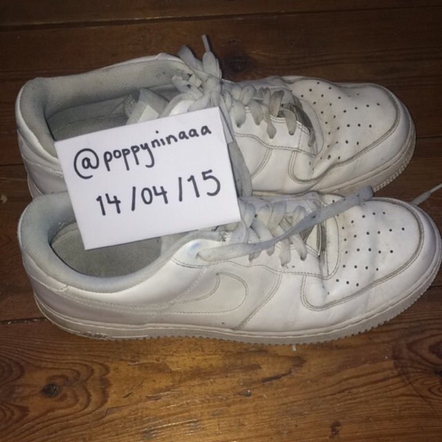5446b25a9c7d1 size 1 baby nike air force ones .