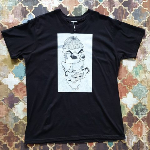 1280166b Spliced' T - Shirt featuring my hand drawn illustrations. a - Depop