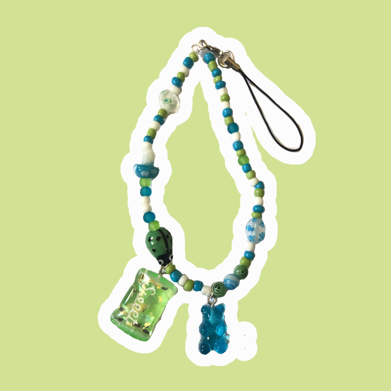 Product Image 1 - 😏 Blue and green phone strap