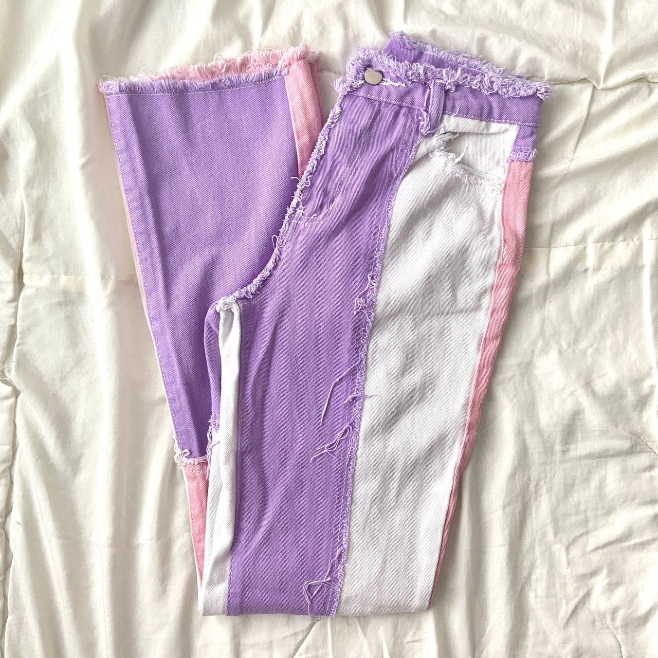 Product Image 1 - pink & purple patchwork straight
