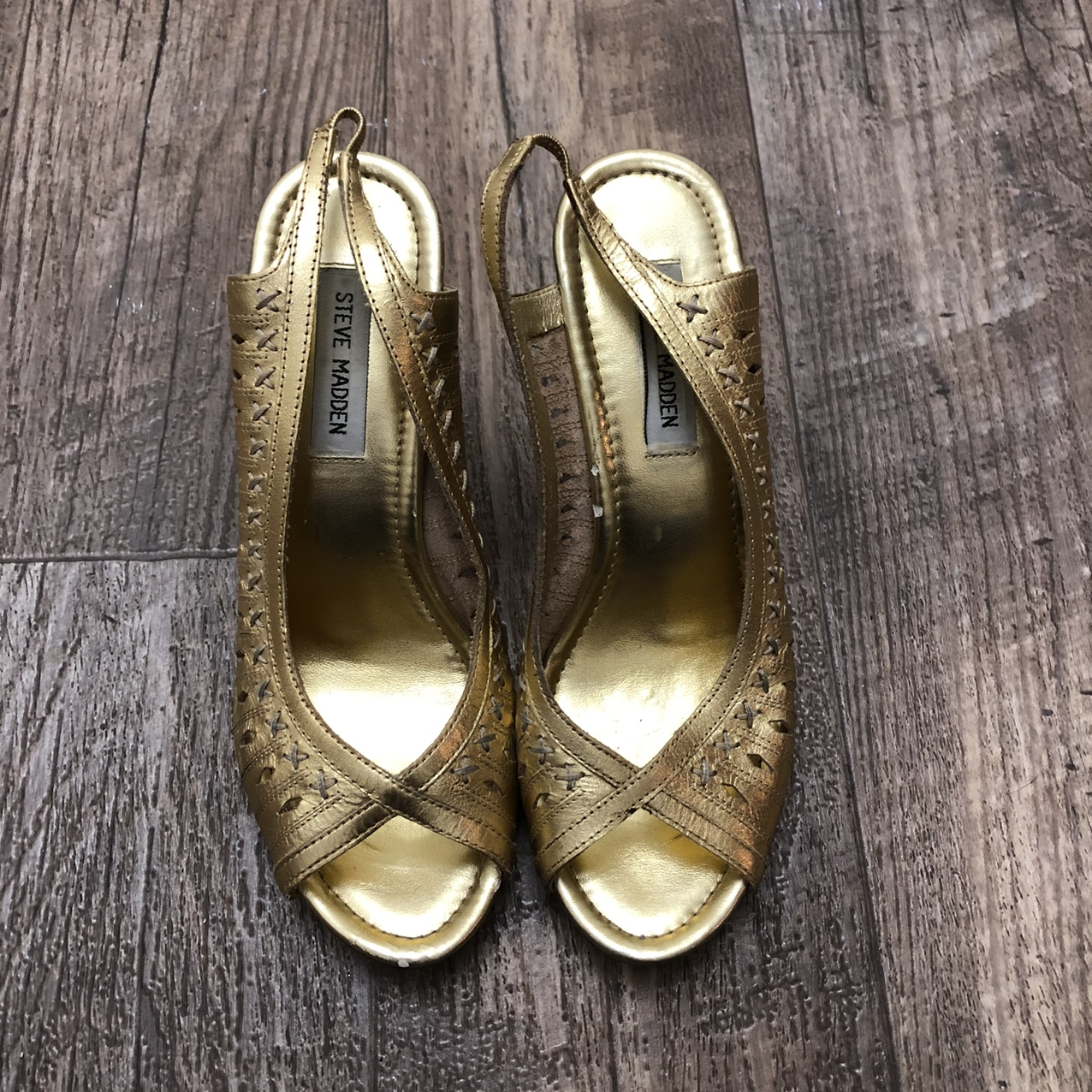 Product Image 1 - Steve Madden gold open-toed 4