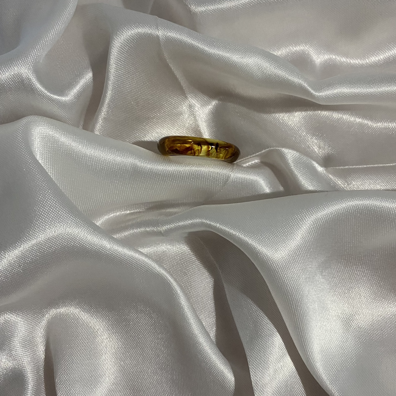 Product Image 1 - Thin brown marble resin ring