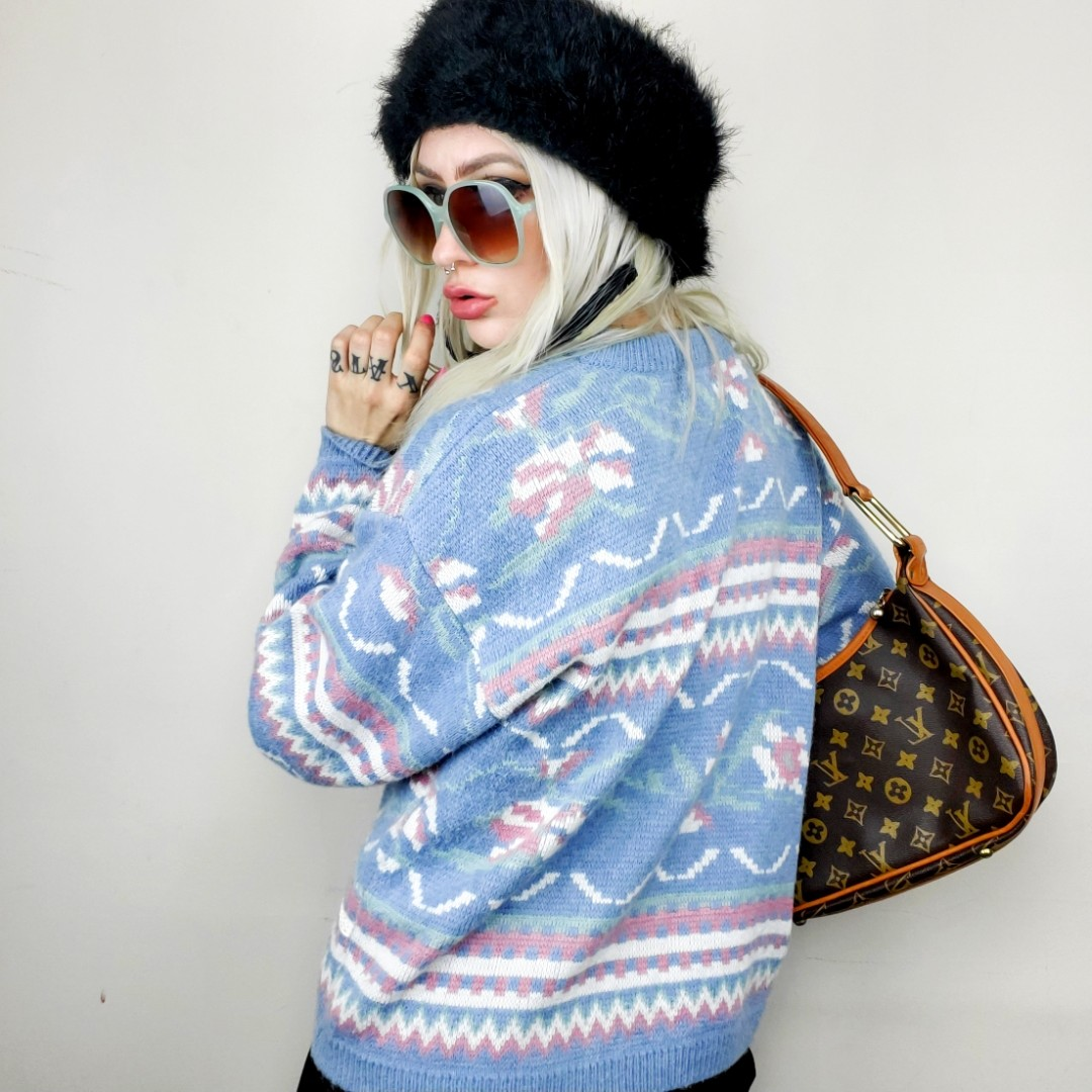 Product Image 1 - Vintage pastel dream sweater.  Size