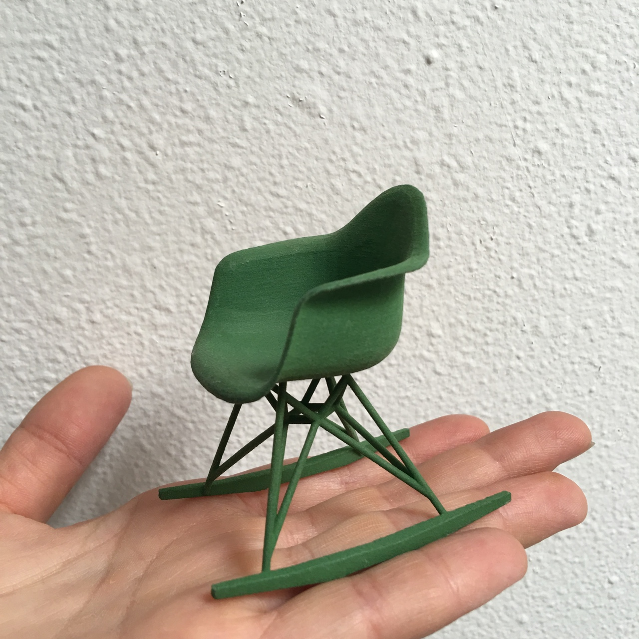 Mini Eames Rocker Chair 3d Print Concrete Geometric