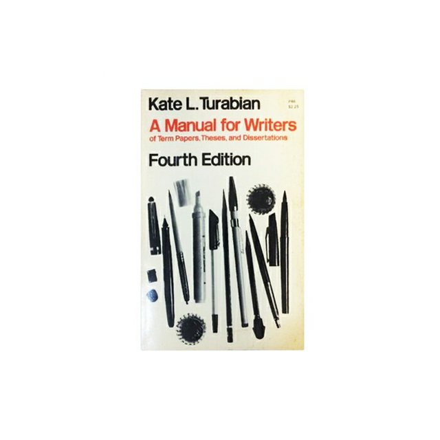 kate l turabian a manual for writers of term papers theses and
