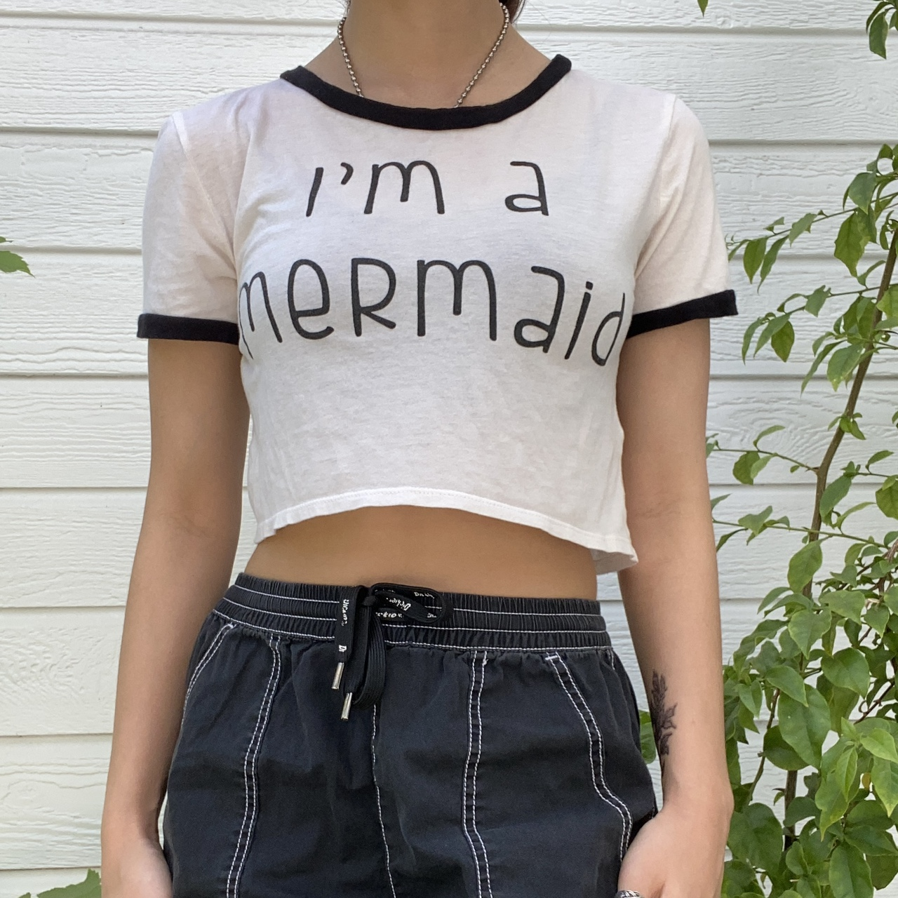 """Product Image 1 - """"I'm a Mermaid"""" white and"""