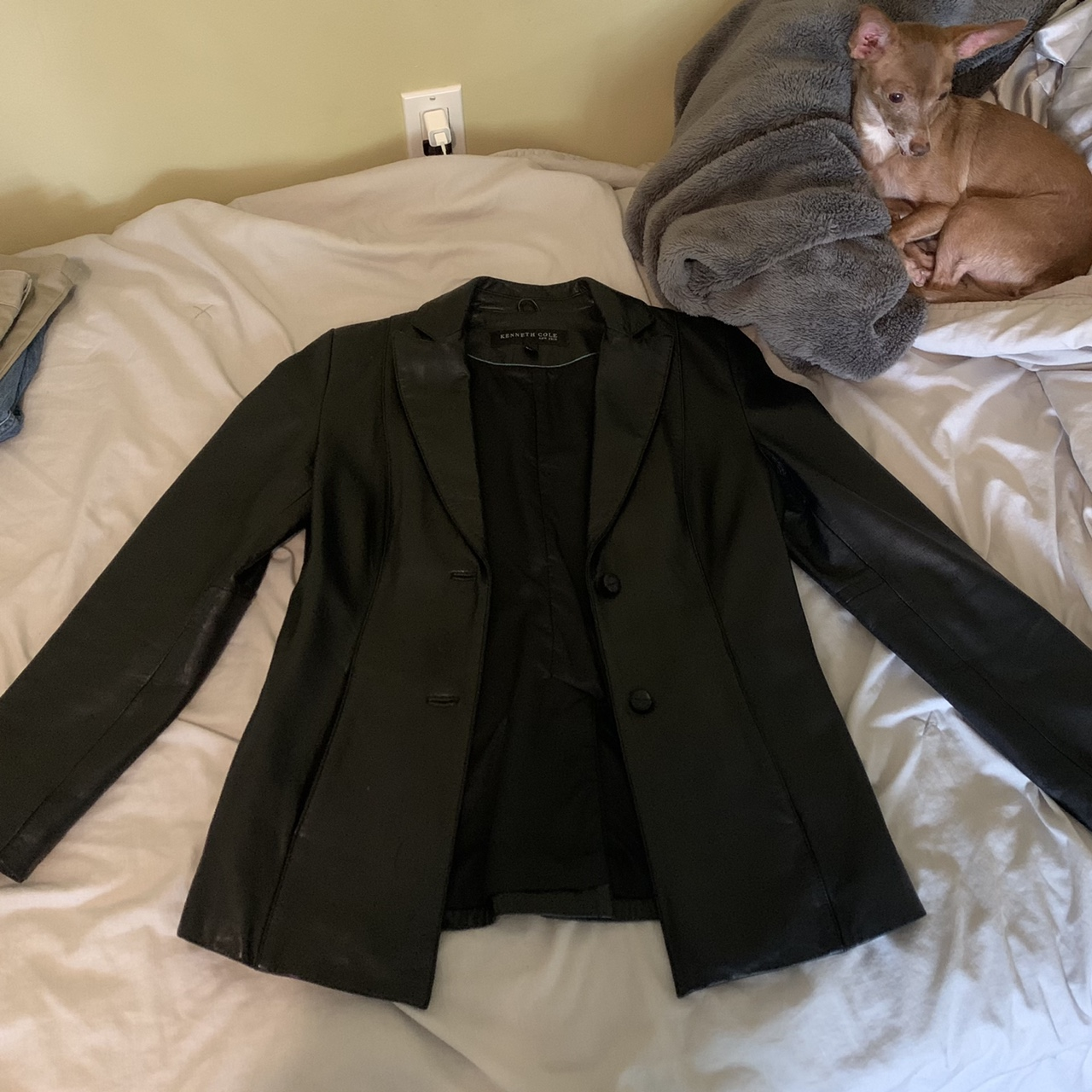 Product Image 1 - Black leather jacket by Kenneth