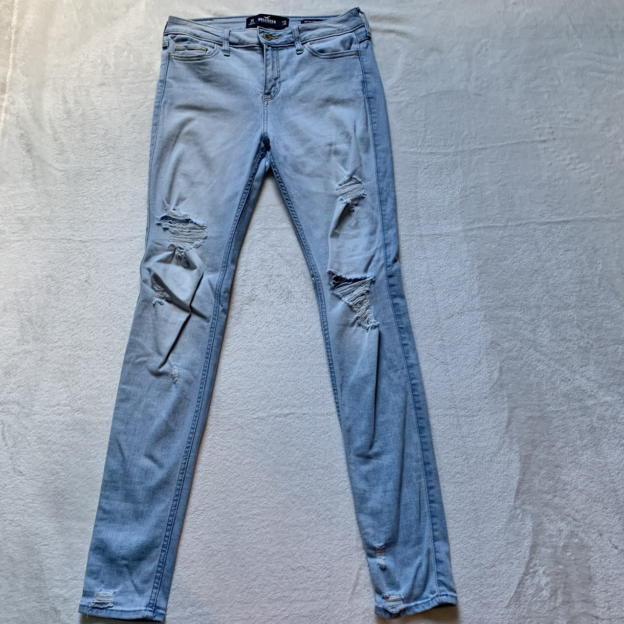 Product Image 1 - Hollister light wash ripped skinny