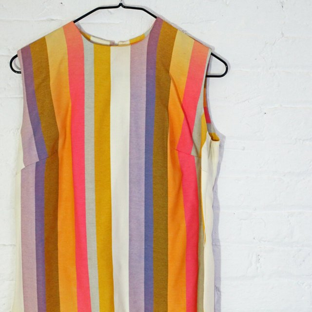 Vintage 60s Stripped Mini Dress/Top. Beautiful ...