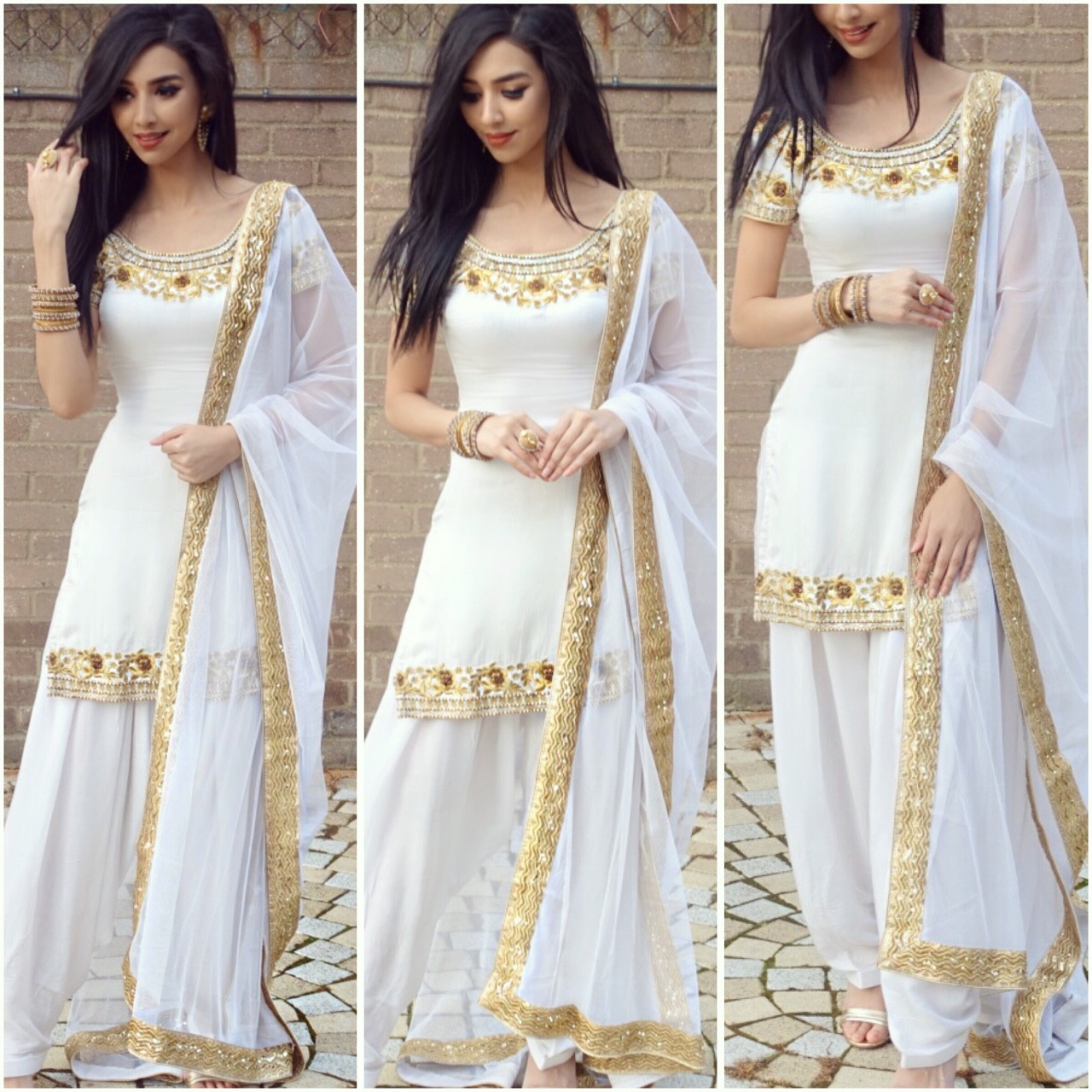 Product Image 1 - Beautiful white pattiala suit! Only