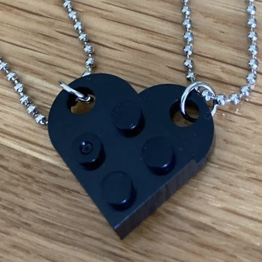 Product Image 1 - Black Lego heart necklace  ❀ red