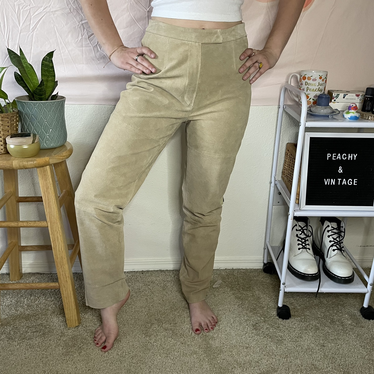 Product Image 1 - Vintage tan 90s high waisted