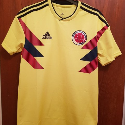 c6b5546c6a9 adidas Replica Colombia 🇨🇴 2018 World Cup shirt. Size me - Depop