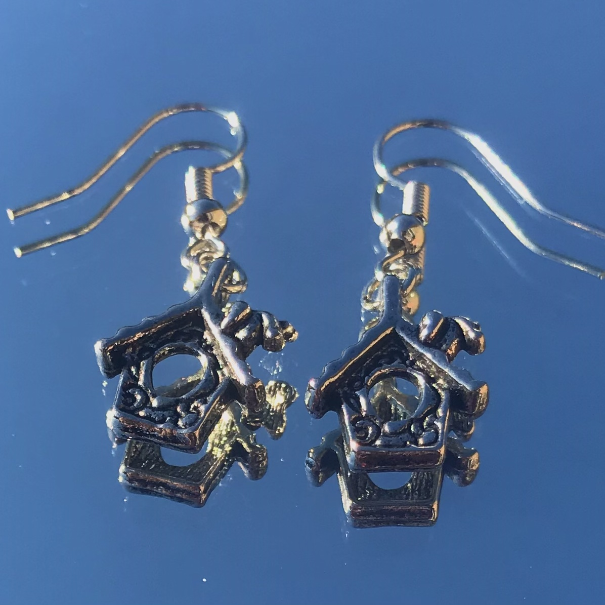 Product Image 1 - cute bird house earrings!!  ONLY