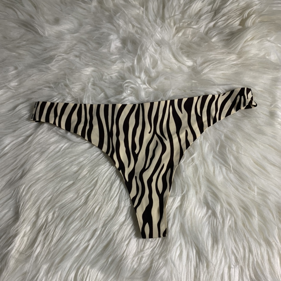 Product Image 1 - Nude/ brown zebra print thong The