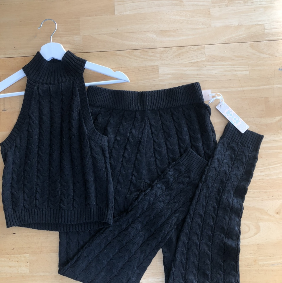 Product Image 1 - knitted lounge set 🧶   🖤