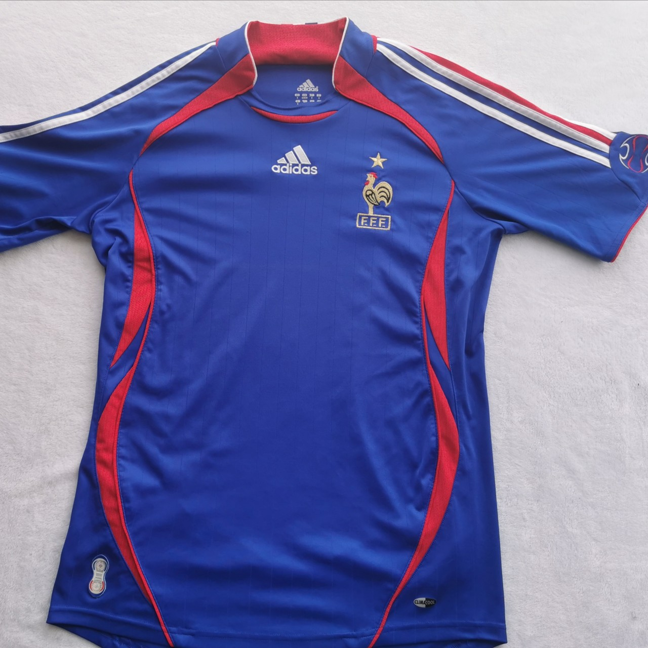 Adidas France home kit from 2006-2007 in which they... - Depop