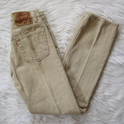 7c838354 @commonthreads. 59 minutes ago. San Antonio, United States. Vintage RARE  high waisted / mid rise Levi's 501 button fly mom jeans.