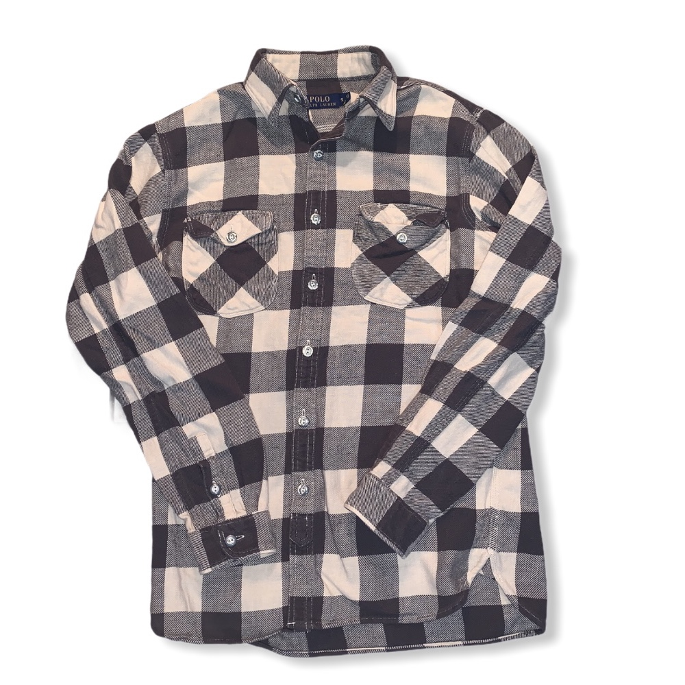 Product Image 1 - POLO RALPH LAUREN FLANNEL MENS SMALL NO