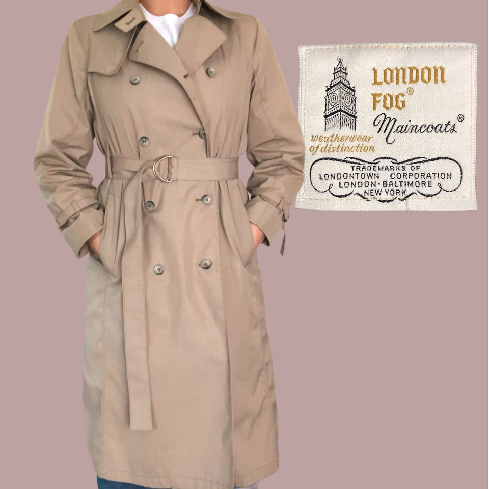 Vintage London Fog Trench Coat In That, Classic London Fog Trench Coat