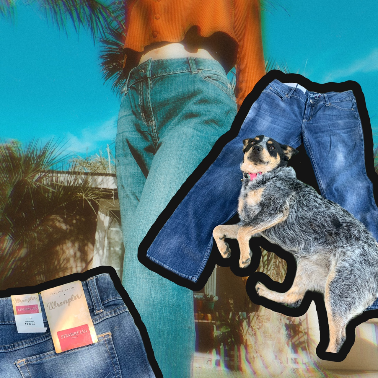 Product Image 1 - WRANGLER BLUE JEANS  SHIPPING-$6.50  brand new cute