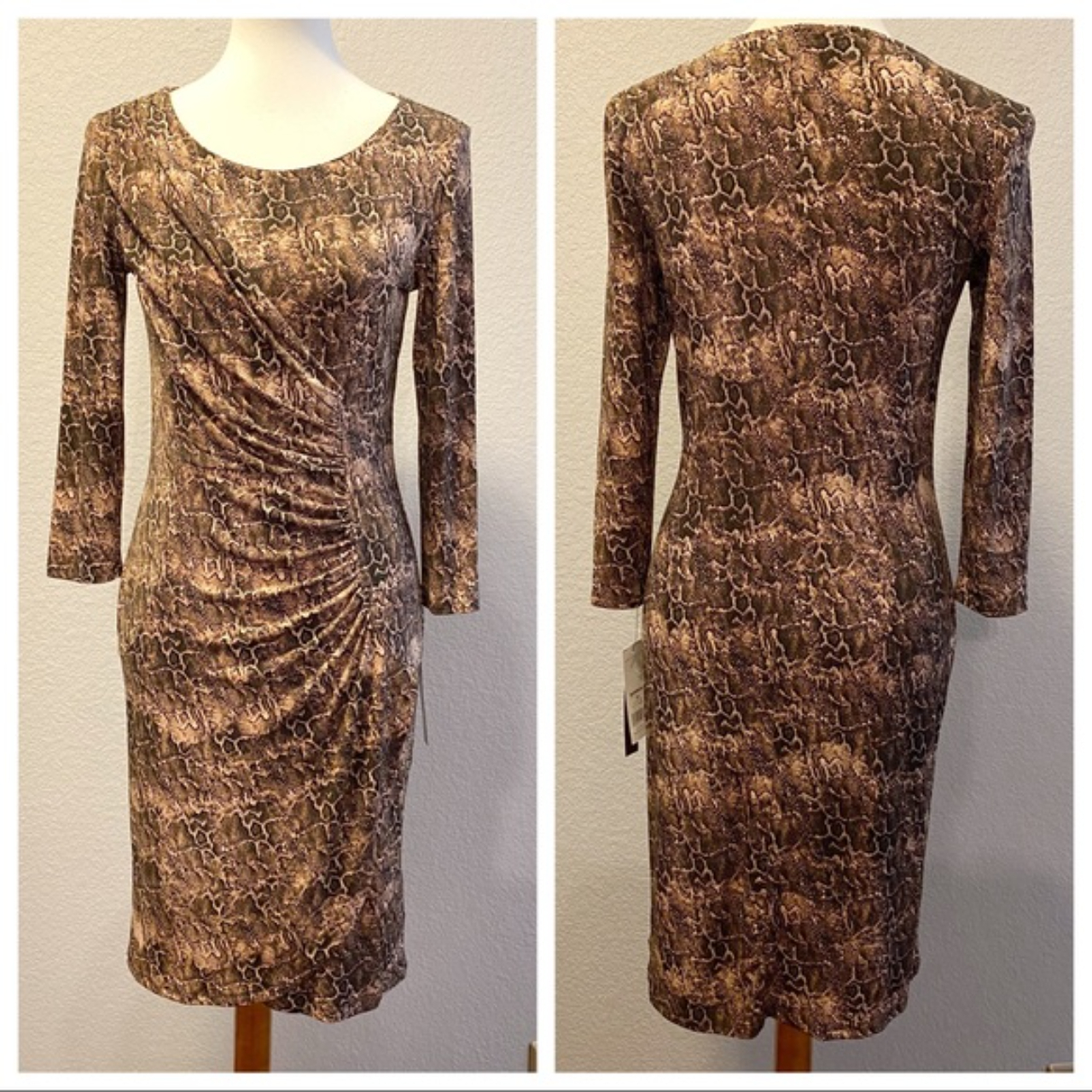 Product Image 1 - Brown snakeskin print dress by