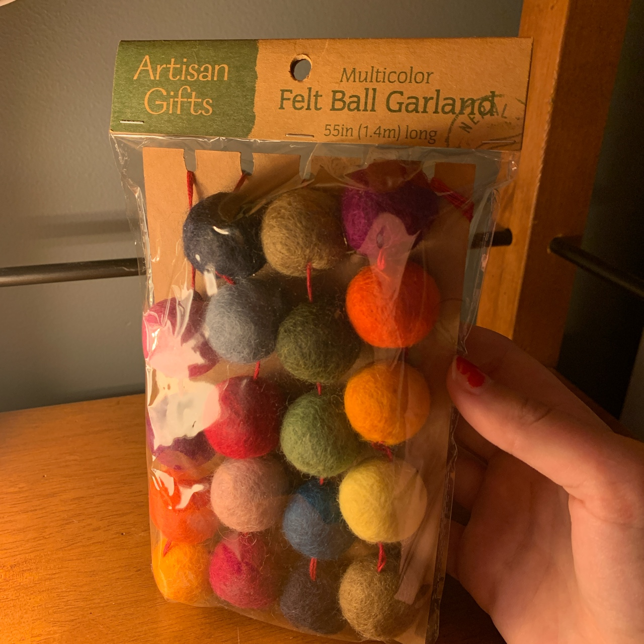 Product Image 1 - felt ball garland IN PACKAGING  55