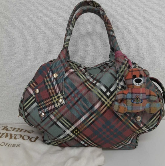 Product Image 1 - vivienne westwood plaid bag with matching