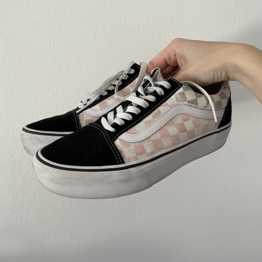 Product Image 1 - ❗️FREE SHIPPING❗️VANS PINK CHECKERBOARD OLD