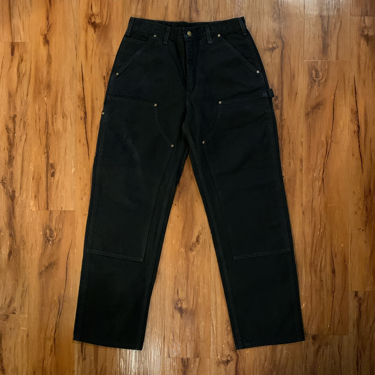 Product Image 1 - black carhartt pants dungaree fit, double