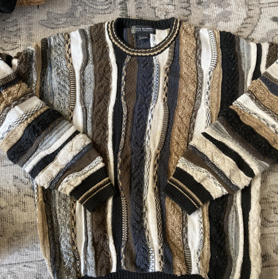 Product Image 1 - Coogi sweater brown black navy