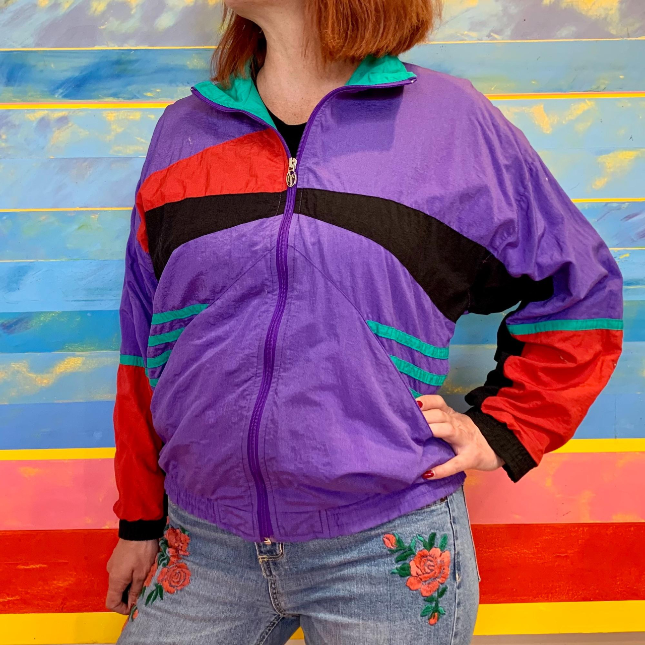 Product Image 1 - ✨Vintage 80s-90s Abstract Design Windbreaker✨  ❌🛍️PLEASE
