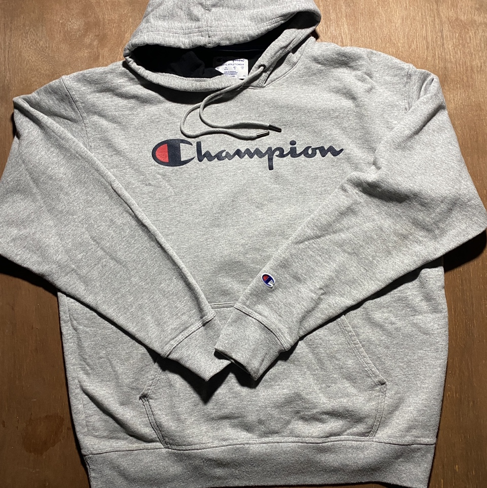 Product Image 1 - Champion Grey Hoodie  Metal laced