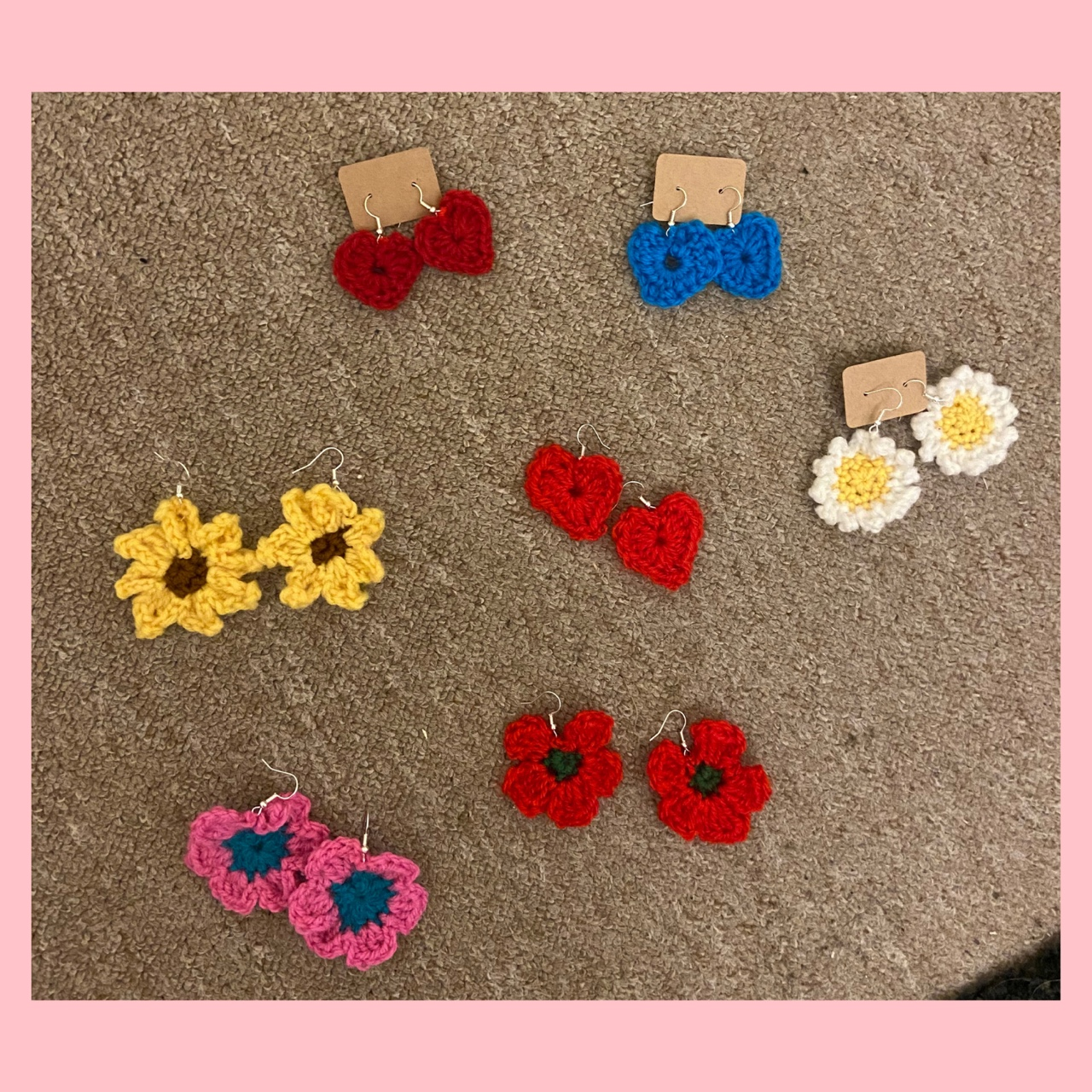 Product Image 1 - Crochet earrings✨🌼🌻🌸🌺 (special offer -