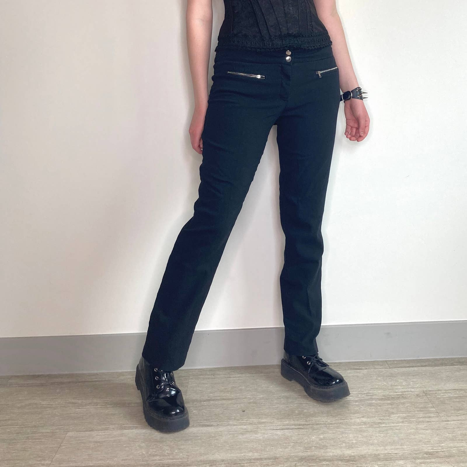 Product Image 1 - black zipper pocket casual relaxed